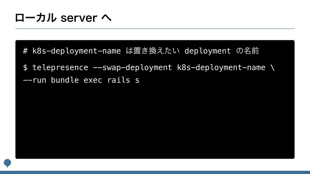 ϩʔΧϧTFSWFS # k8s-deployment-name ஔ͖͍͑ͨ dep...