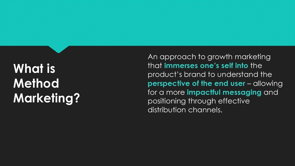 What is Method Marketing? An approach to growth...