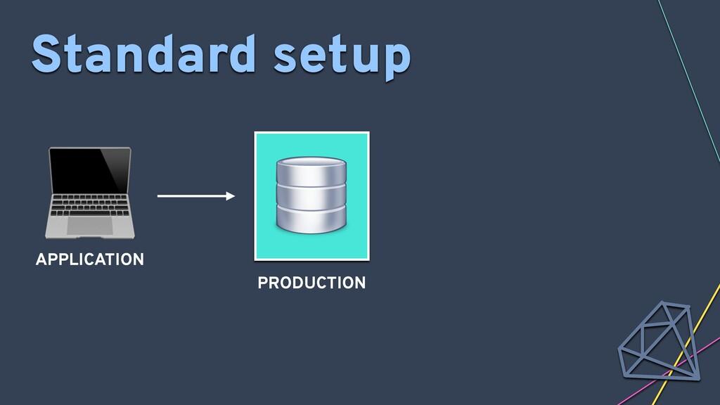 PRODUCTION APPLICATION Standard setup