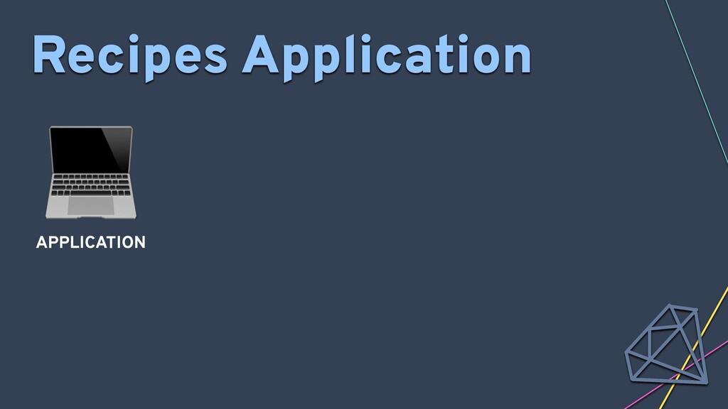 Recipes Application  APPLICATION