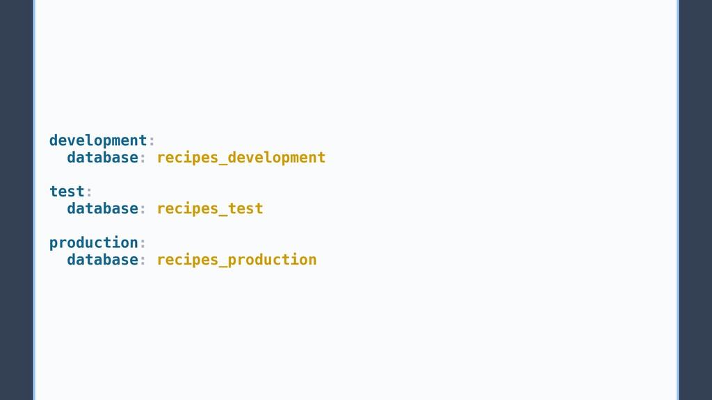 development: database: recipes_development test...