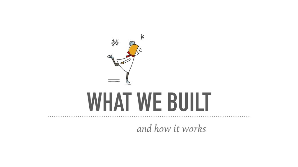 WHAT WE BUILT and how it works