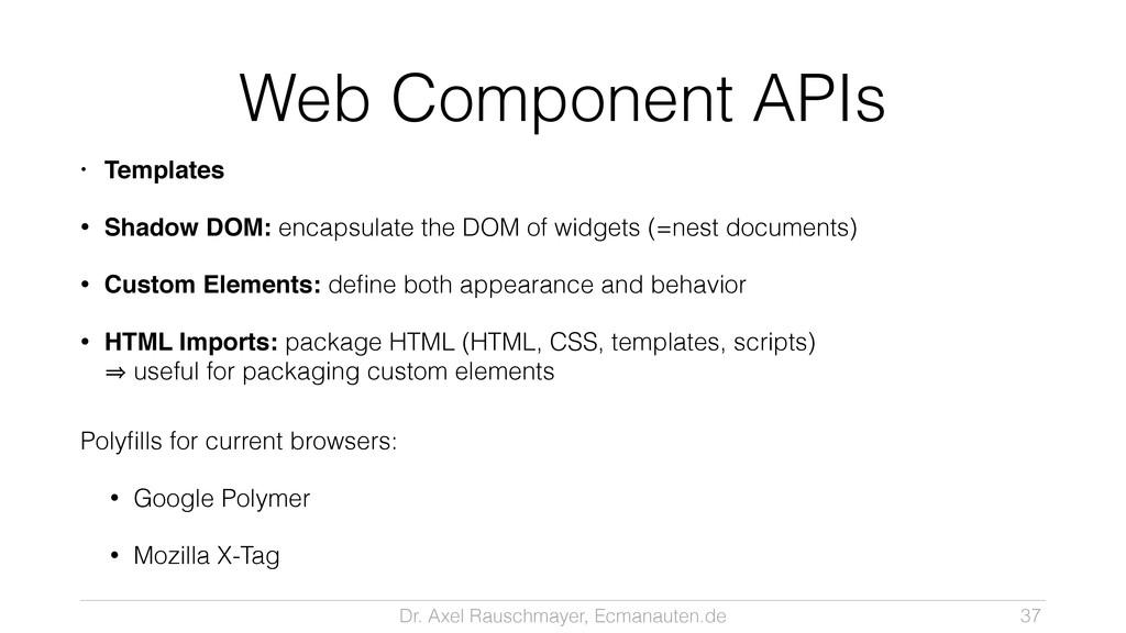 Dr. Axel Rauschmayer, Ecmanauten.de Web Compone...