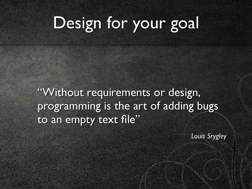 """""""Without requirements or design, programming is..."""