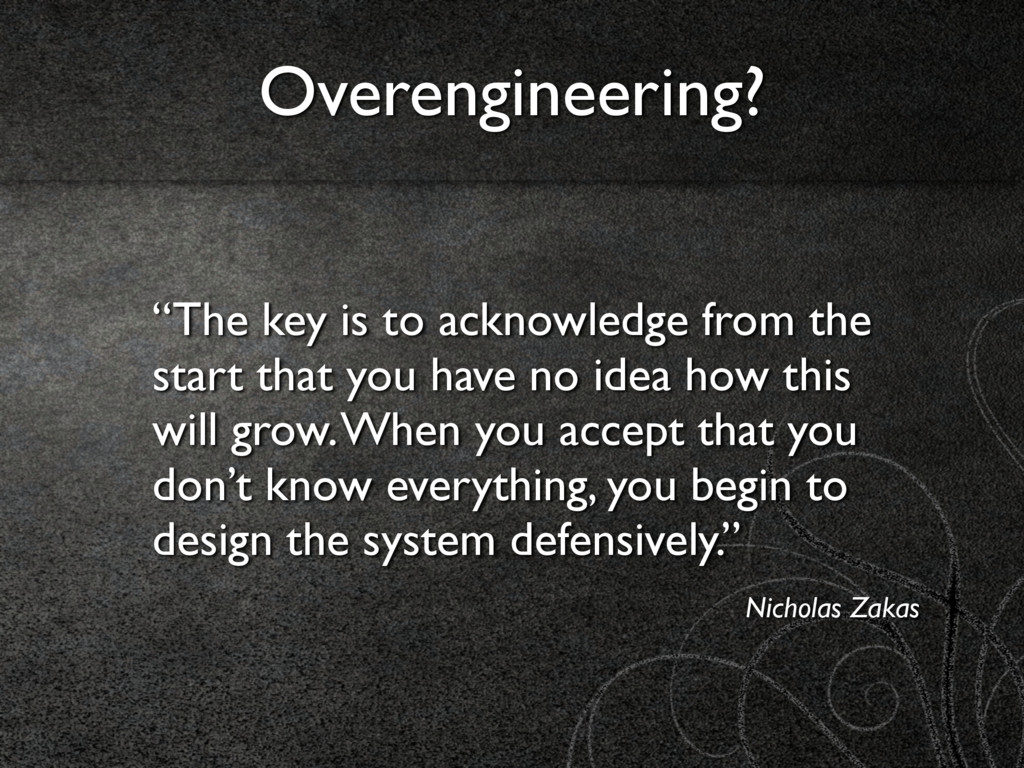 """""""The key is to acknowledge from the start that ..."""