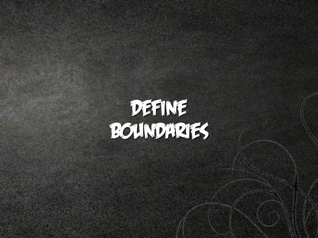 Define  boundaries