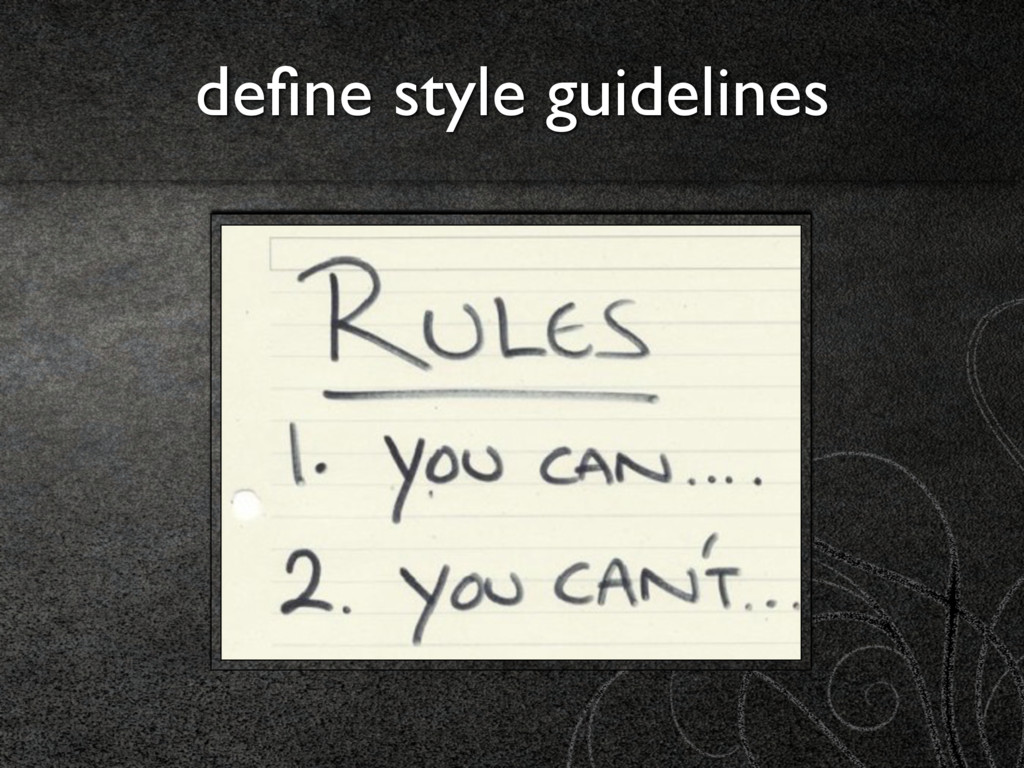 define style guidelines