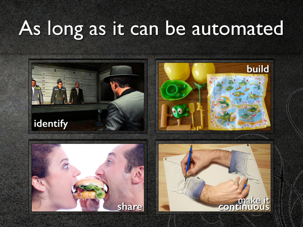 As long as it can be automated share identify b...