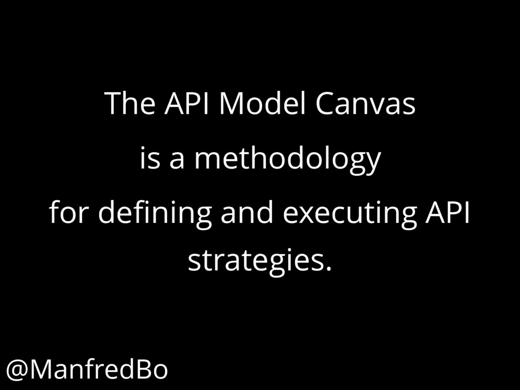 The API Model Canvas is a methodology for defin...