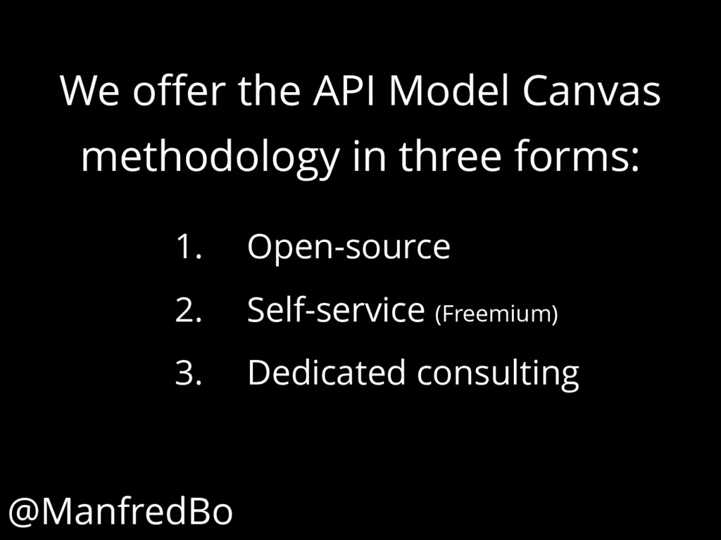 We offer the API Model Canvas methodology in th...