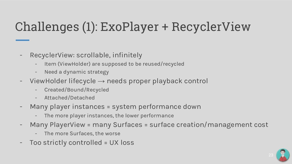 - RecyclerView: scrollable, infinitely - Item (...