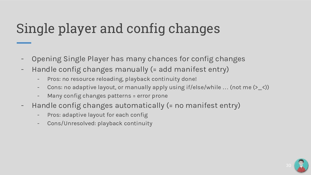 Single player and config changes - Opening Sing...