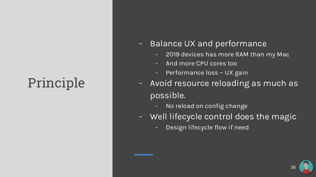 Principle - Balance UX and performance - 2019 d...