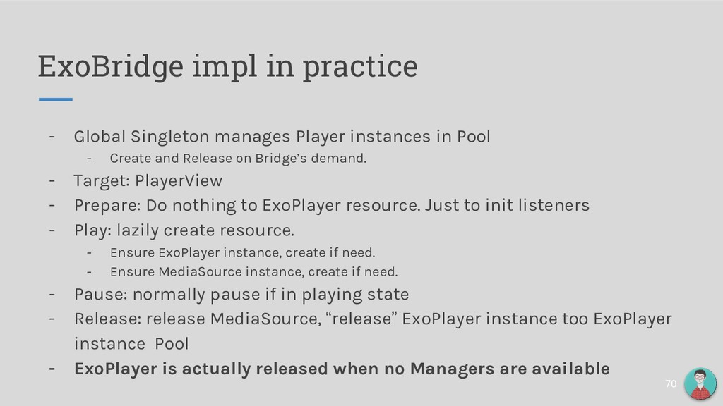 ExoBridge impl in practice - Global Singleton m...