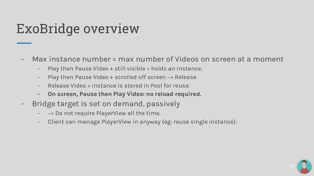 ExoBridge overview - Max instance number = max ...