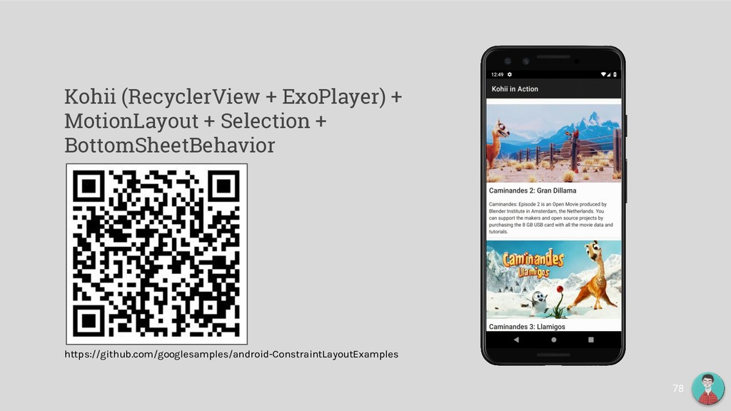 Kohii (RecyclerView + ExoPlayer) + MotionLayout...
