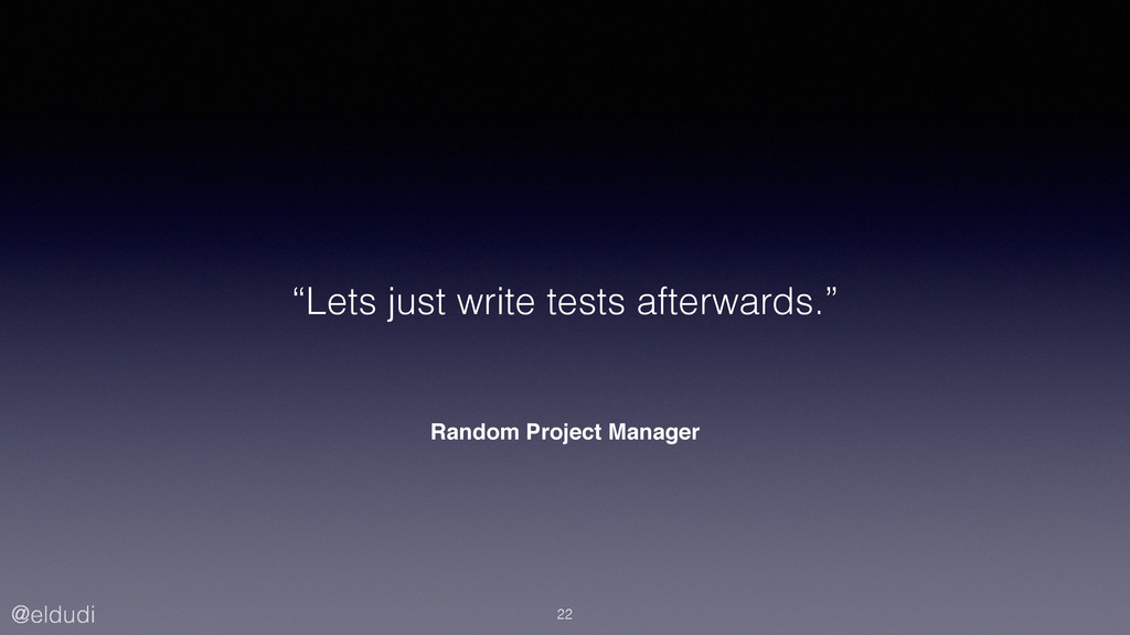 "@eldudi Random Project Manager ""Lets just write..."