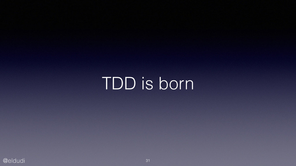 @eldudi TDD is born 31