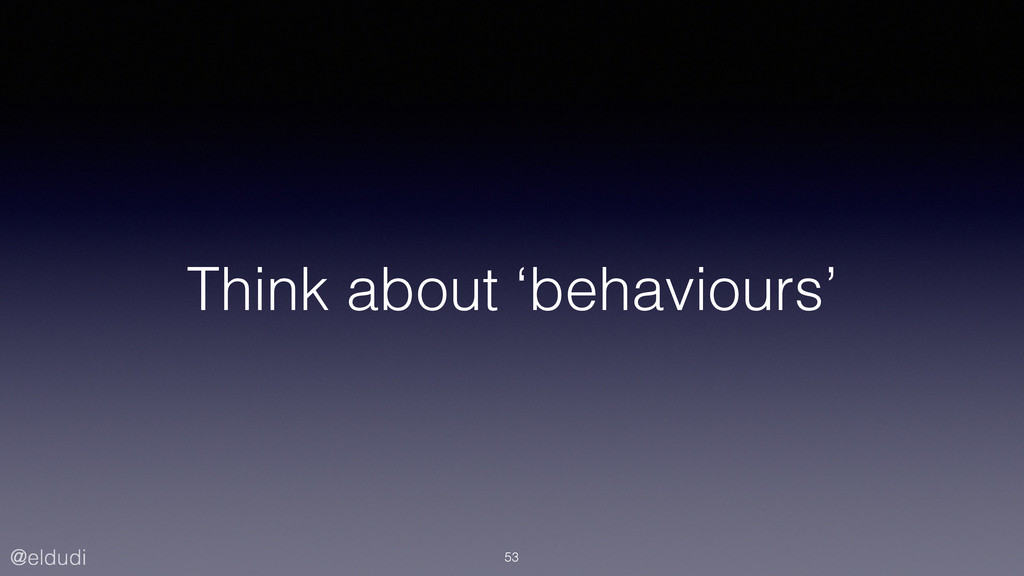 @eldudi Think about 'behaviours' 53
