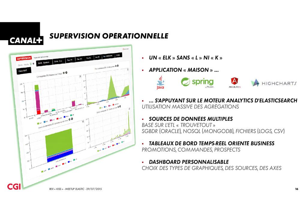 SUPERVISION OPÉRATIONNELLE UN « ELK » SANS « L ...