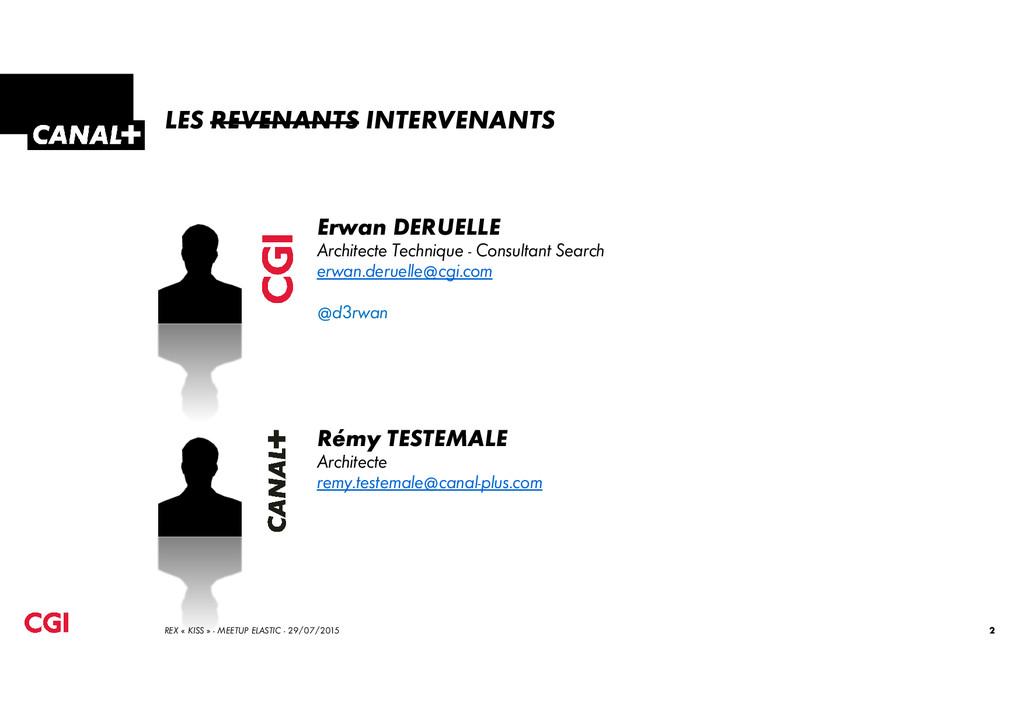 LES REVENANTS INTERVENANTS Erwan DERUELLE Archi...