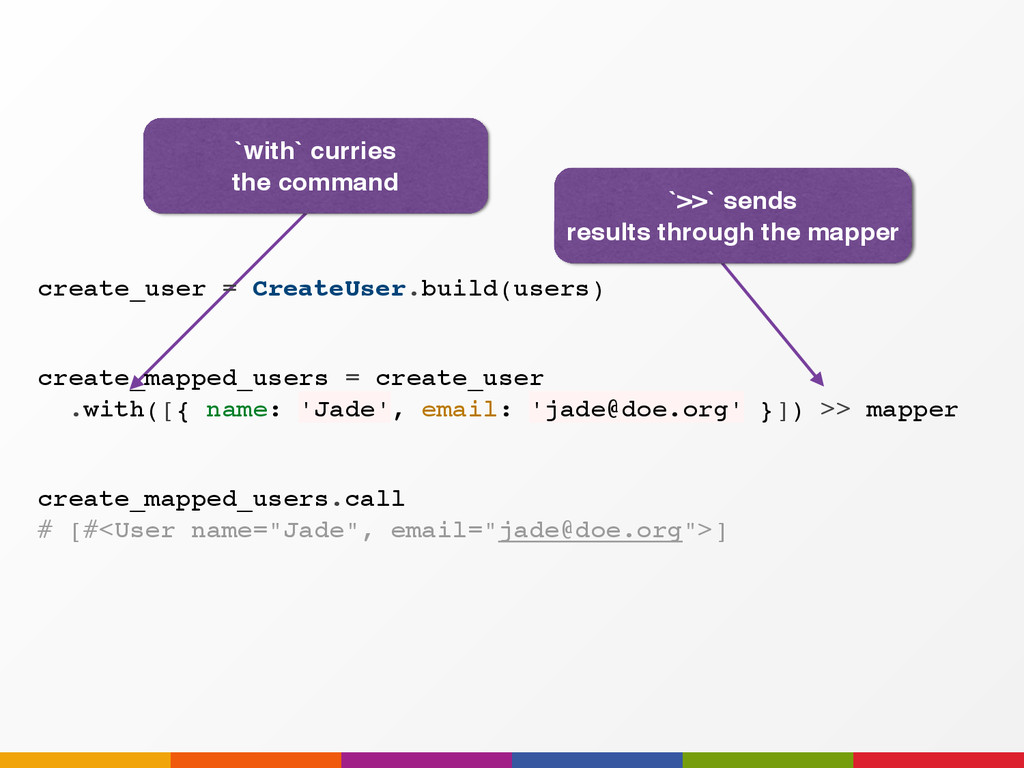 `with` curries the command create_mapped_users ...