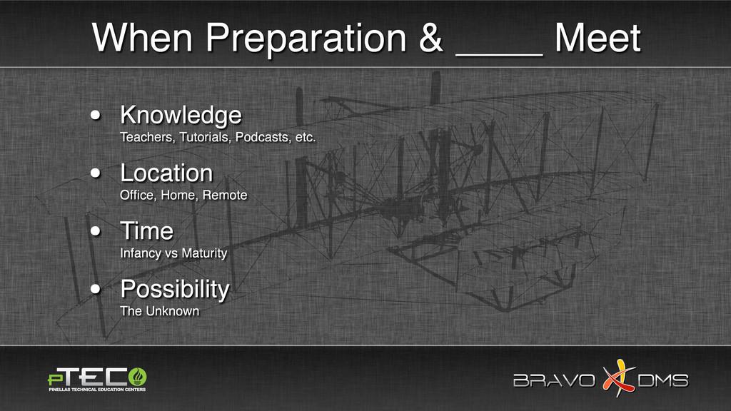 BRAVO DMS BRAVO DMS When Preparation & ____ Mee...