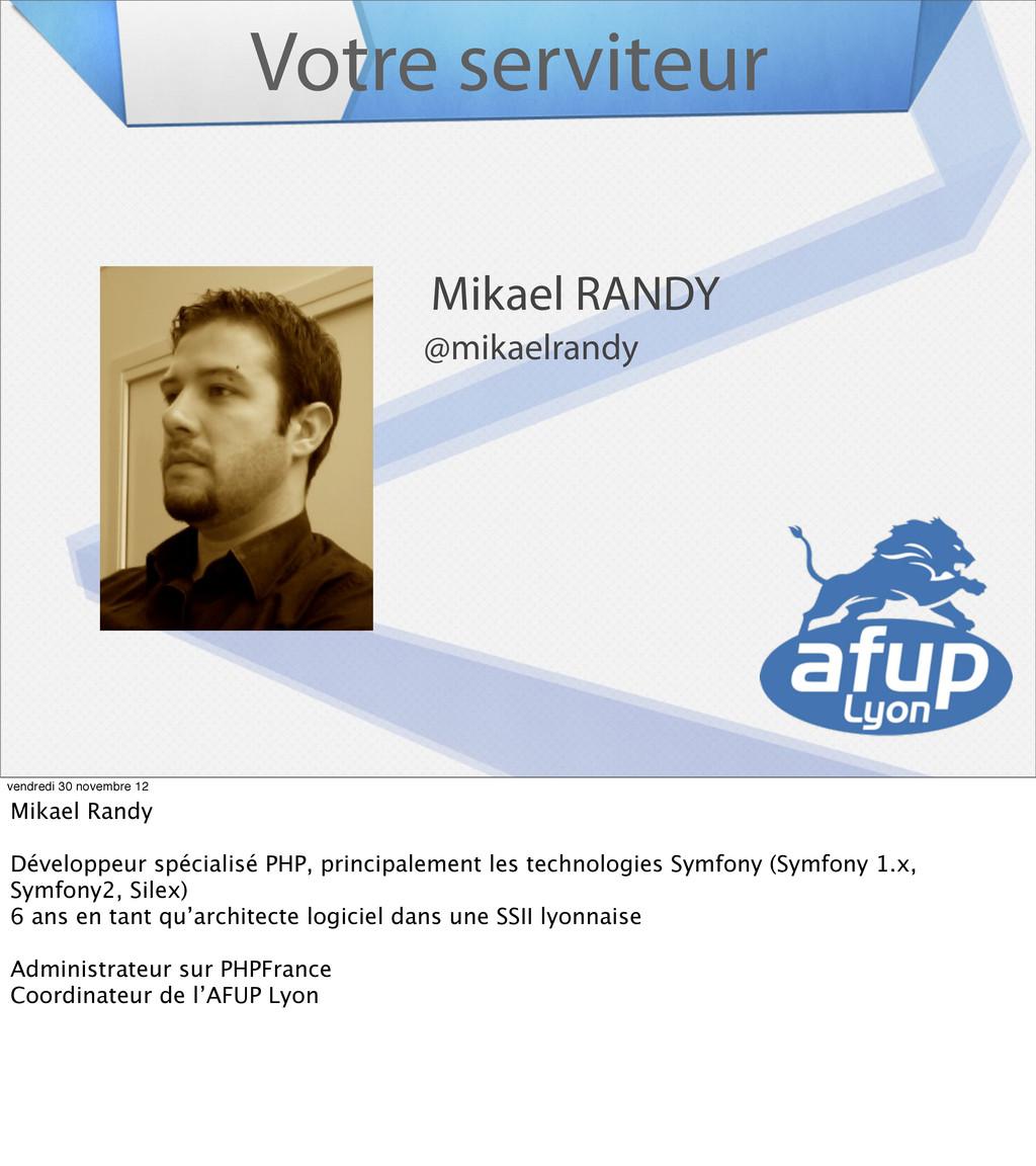 Votre serviteur Mikael RANDY @mikaelrandy vendr...