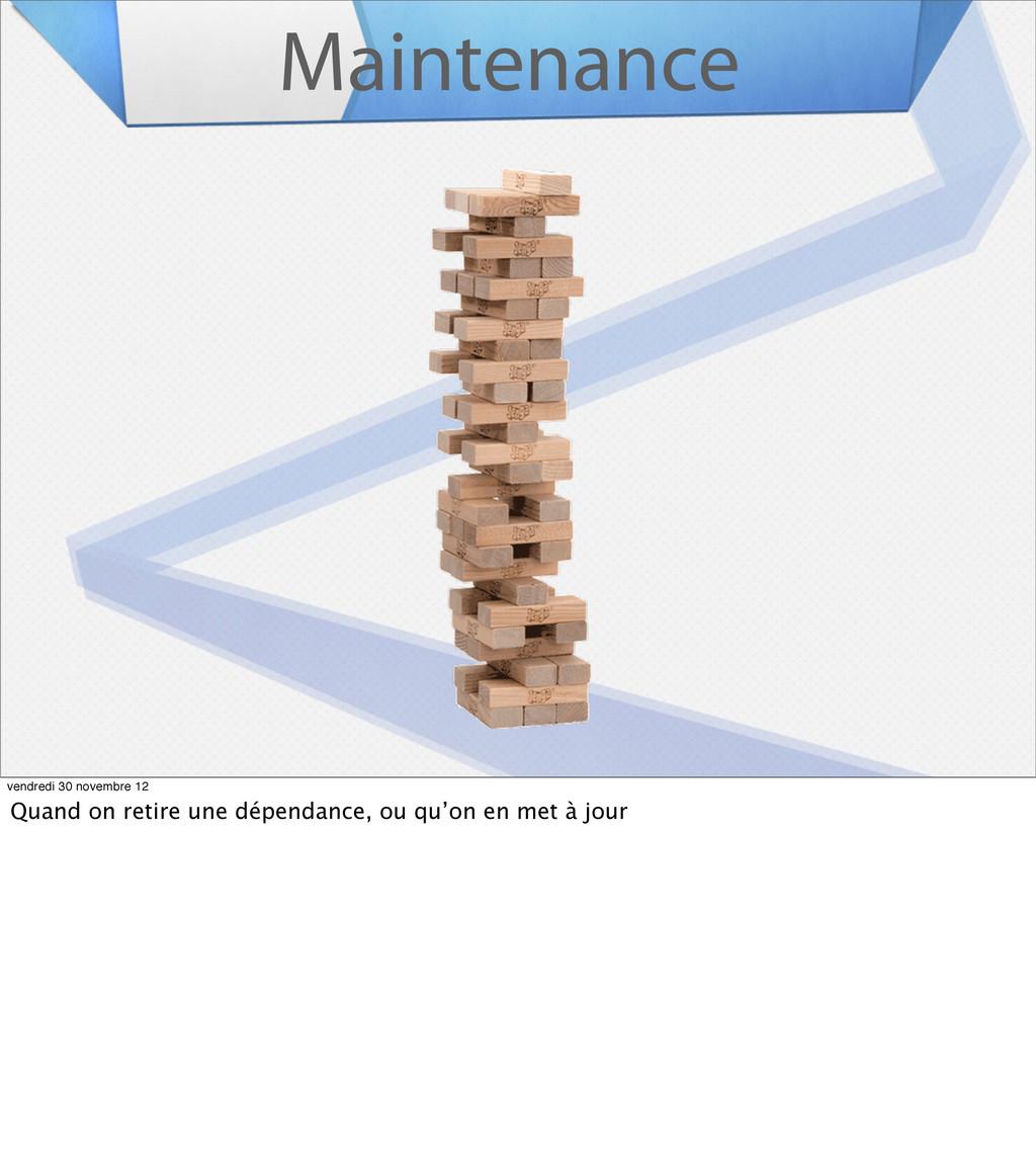Maintenance vendredi 30 novembre 12 Quand on re...
