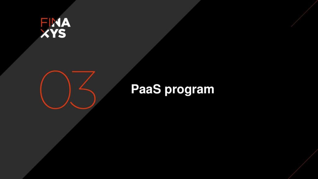 PaaS program