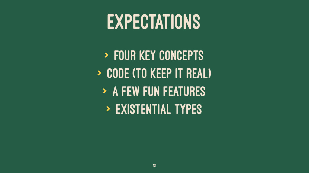 EXPECTATIONS > four key concepts > code (to kee...