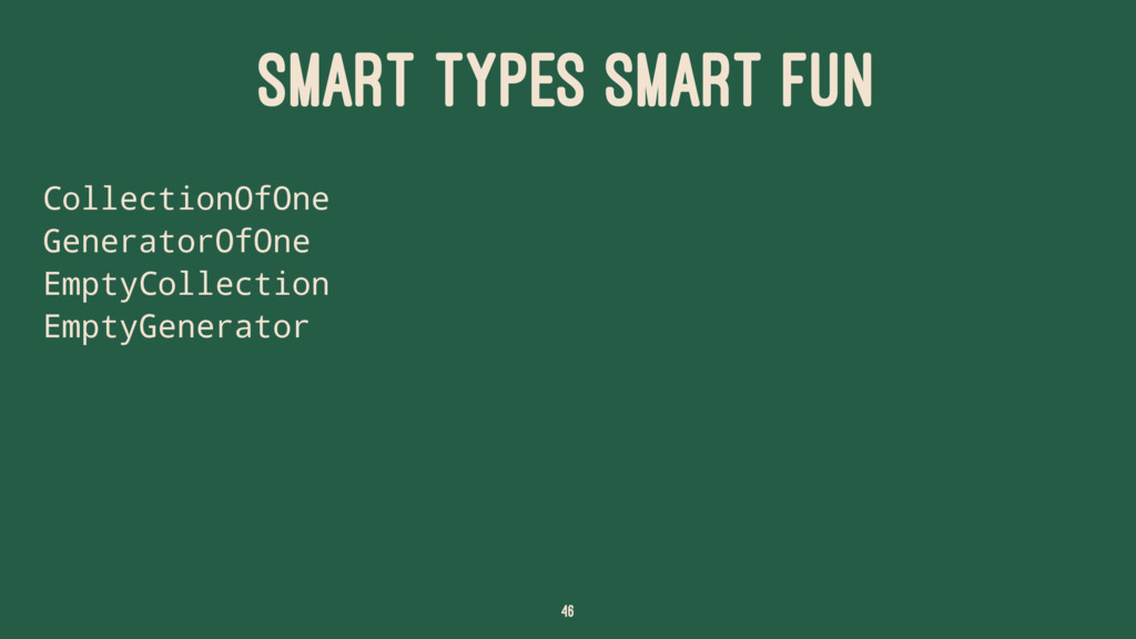 SMART TYPES SMART FUN CollectionOfOne Generator...