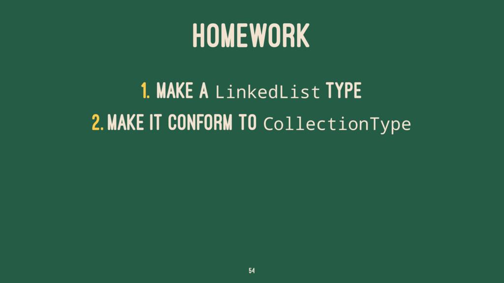 HOMEWORK 1. Make a LinkedList type 2. Make it c...