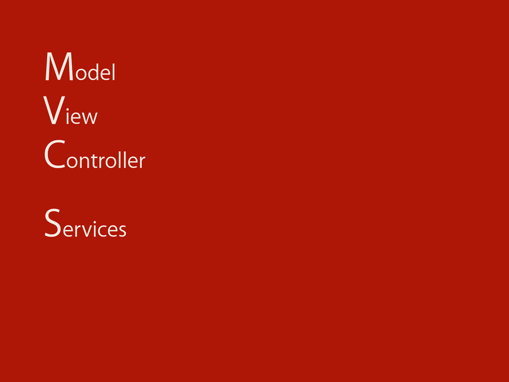 Model View Controller Services