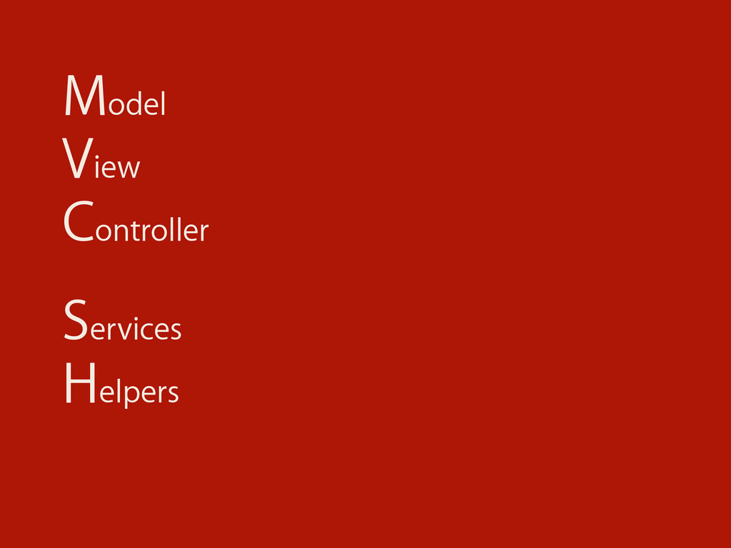 Model View Controller Services Helpers
