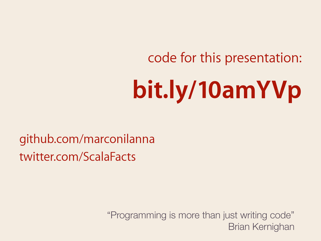 code for this presentation: bit.ly/10amYVp gith...