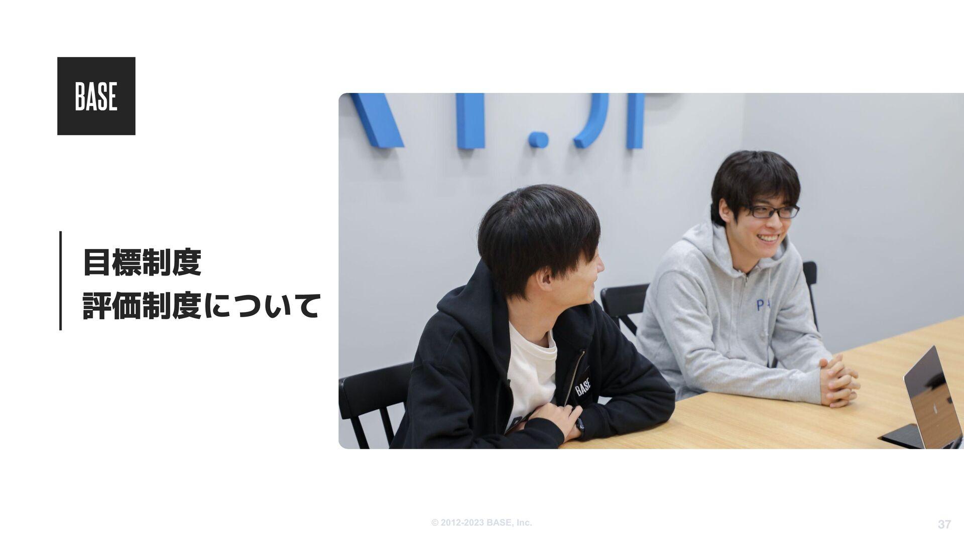 © 2012-2020 BASE, Inc. 37 社内制度、福利厚生 ・月1で全社での締め会...