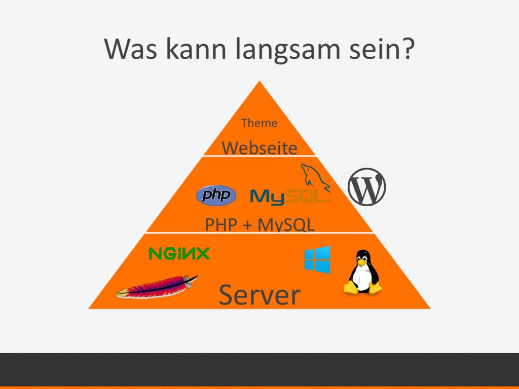 Was kann langsam sein? Webseite PHP + MySQL Ser...