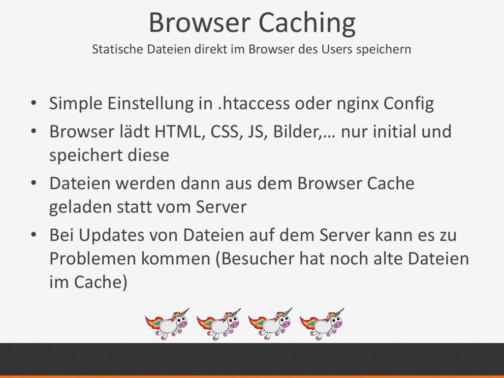 Browser Caching Statische Dateien direkt im Bro...