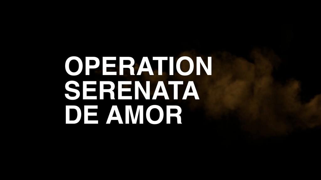 OPERATION SERENATA DE AMOR
