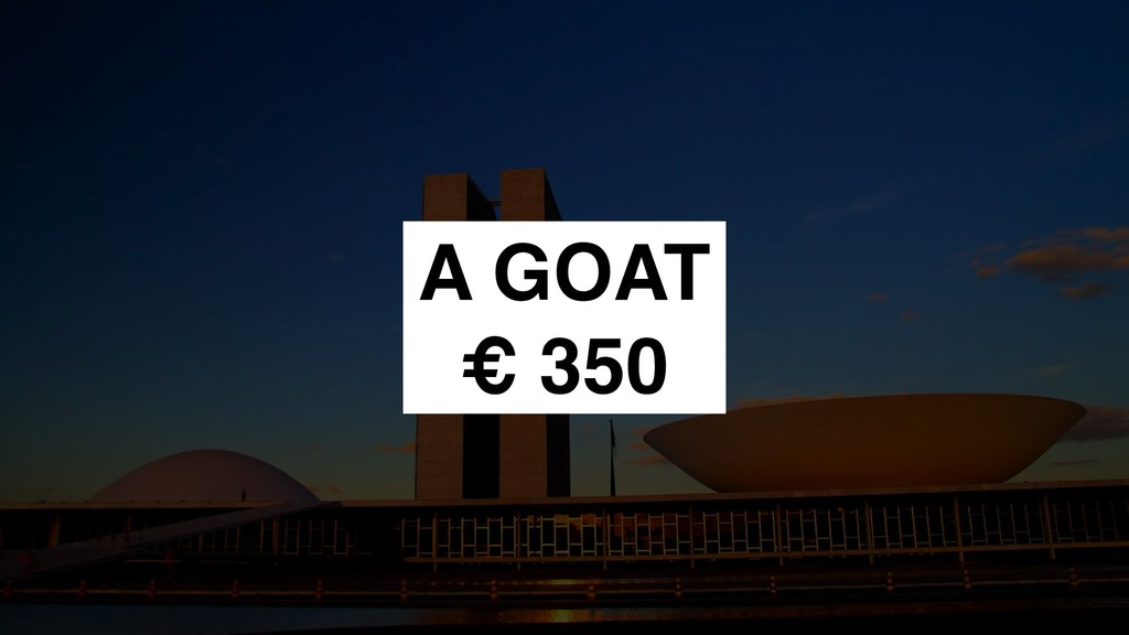A GOAT € 350