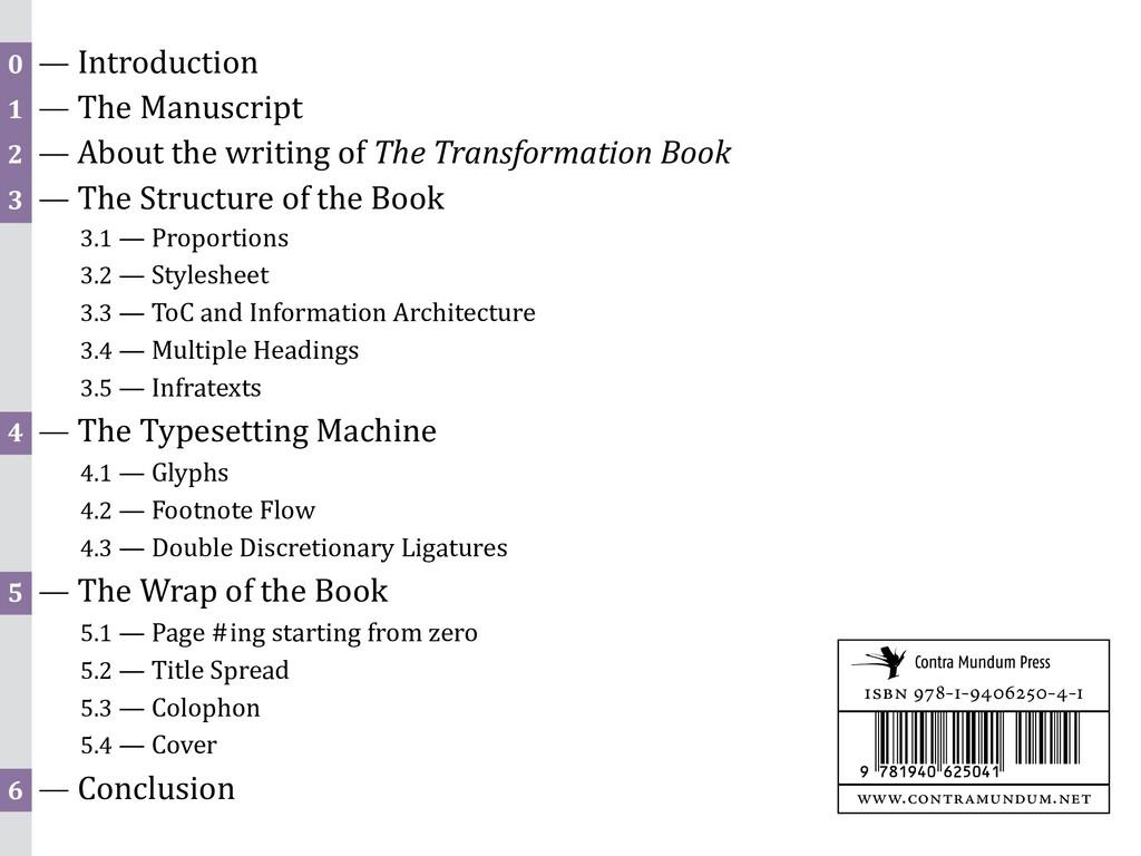 0 — Introduction 1 — The Manuscript 2 — About t...