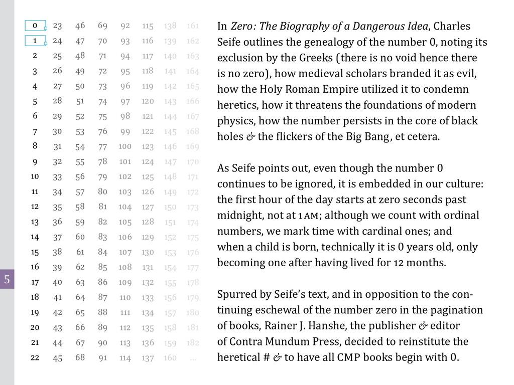 5 In Zero: The Biography of a Dangerous Idea, C...