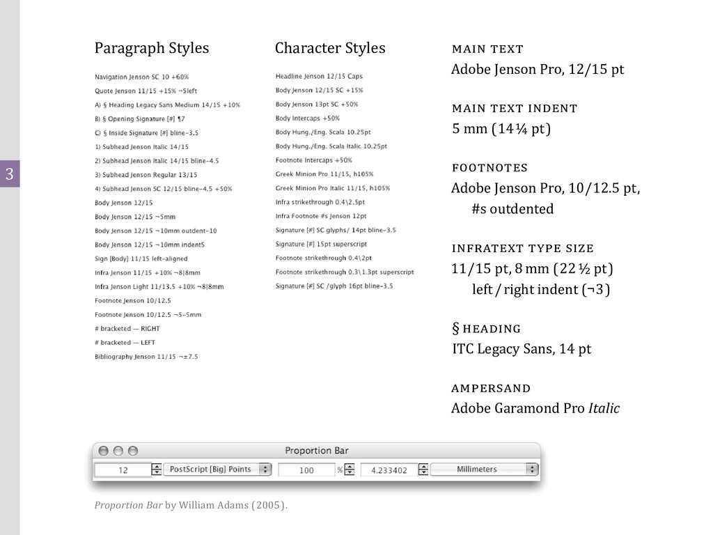 3 Paragraph Styles Character Styles main text A...