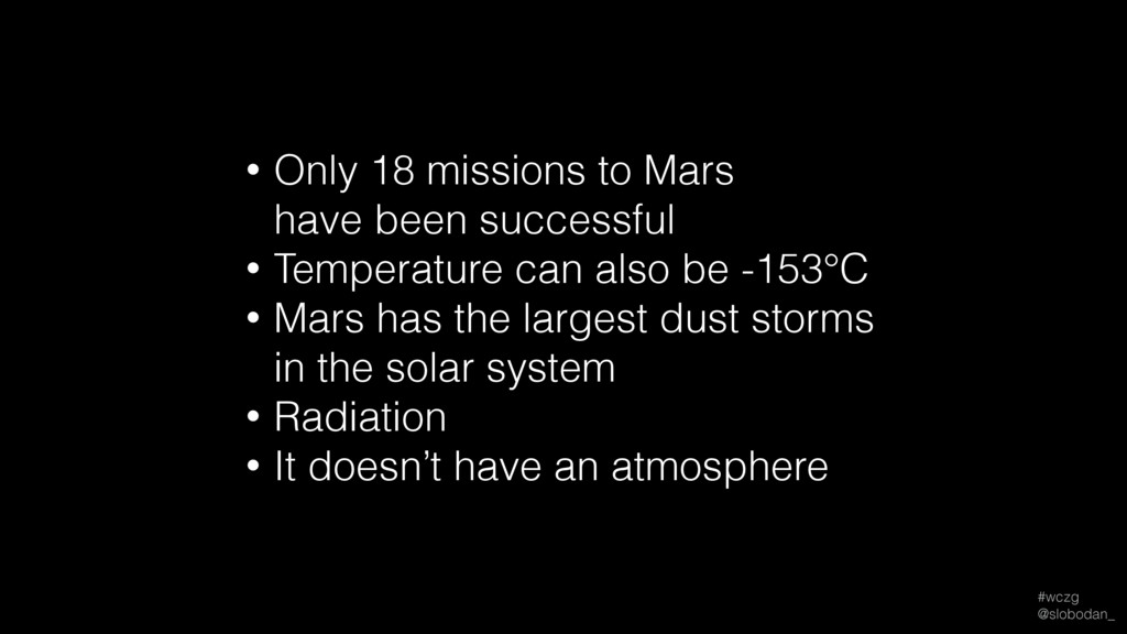 #wczg @slobodan_ • Only 18 missions to Mars h...