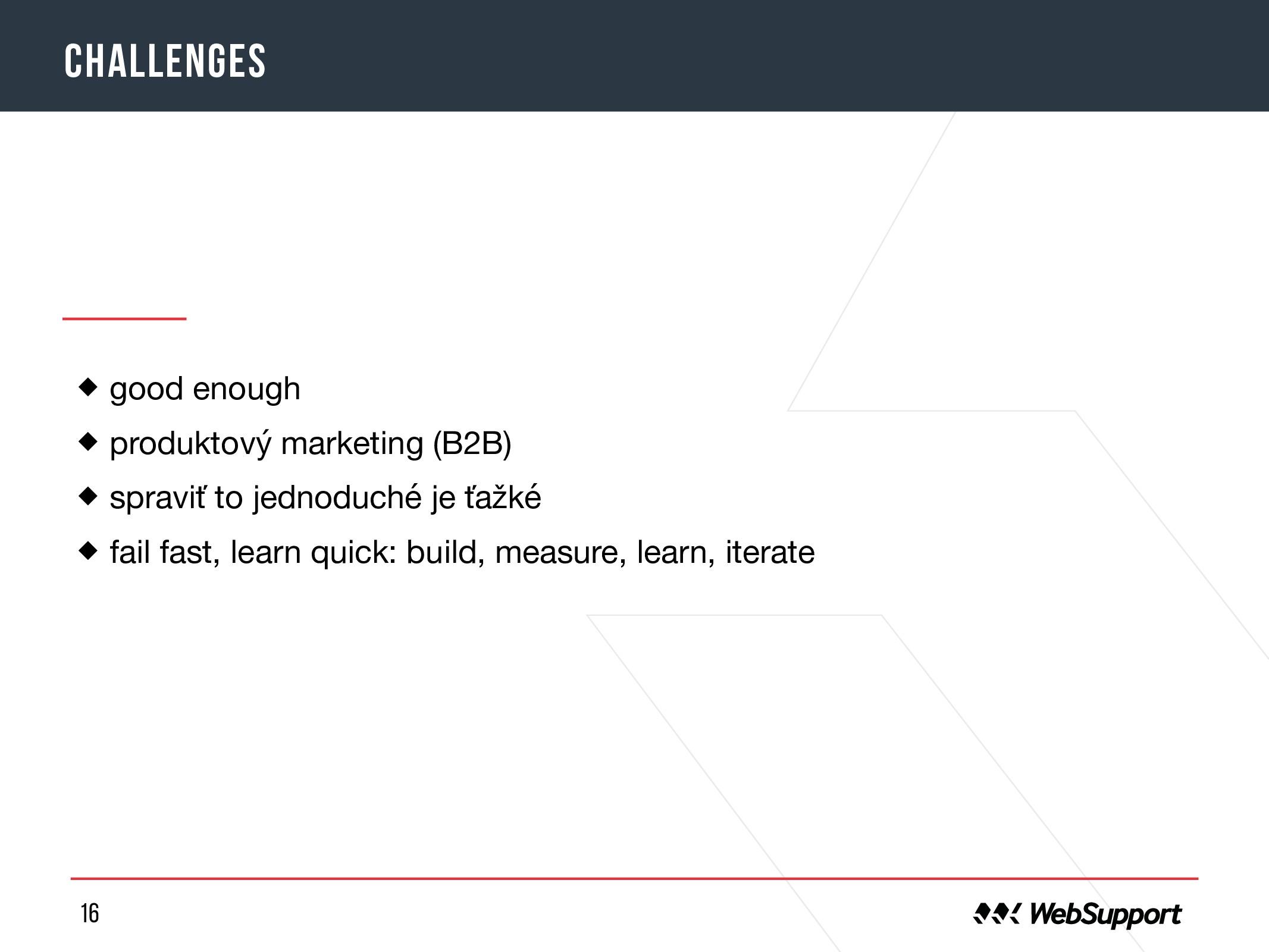 16 challenges good enough  produktový marketing...