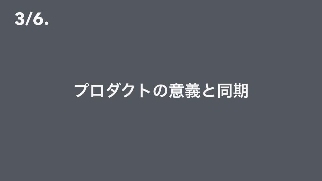 3/6. ϓϩμΫτͷҙٛͱಉظ