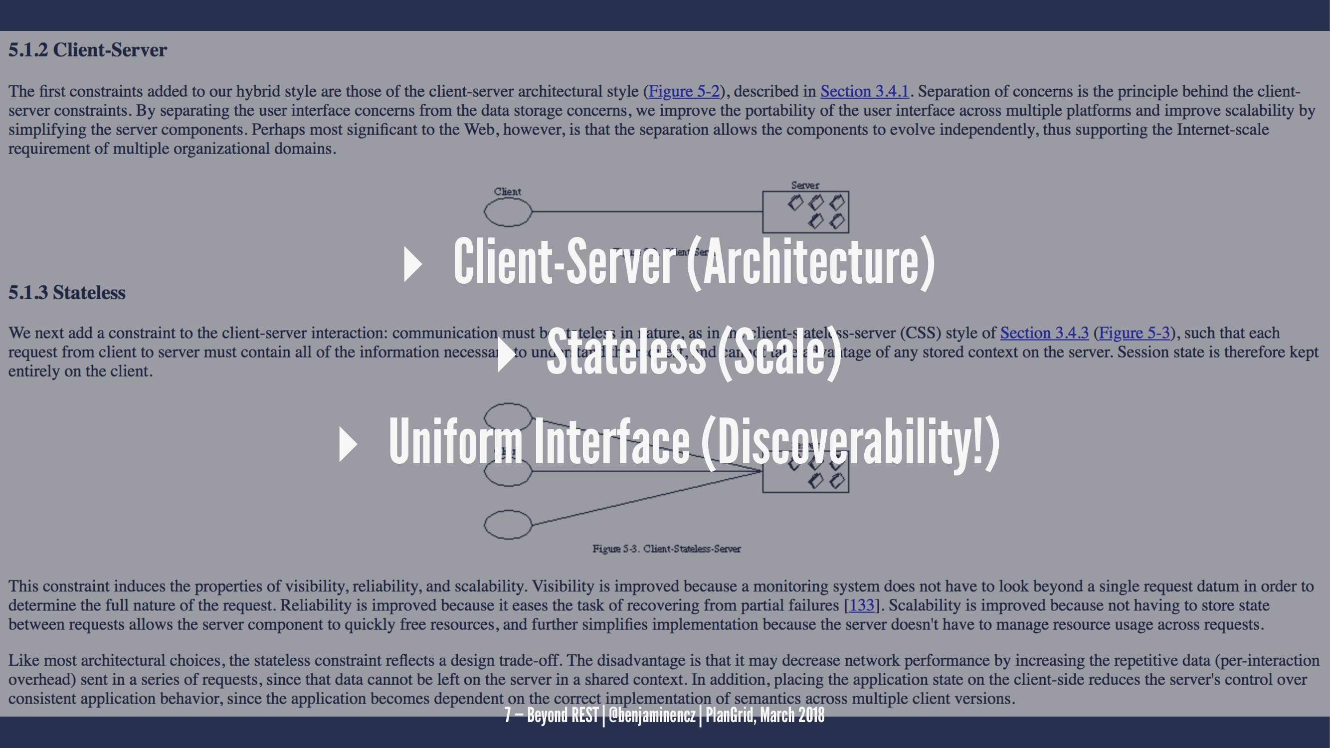 ▸ Client-Server (Architecture) ▸ Stateless (Sca...