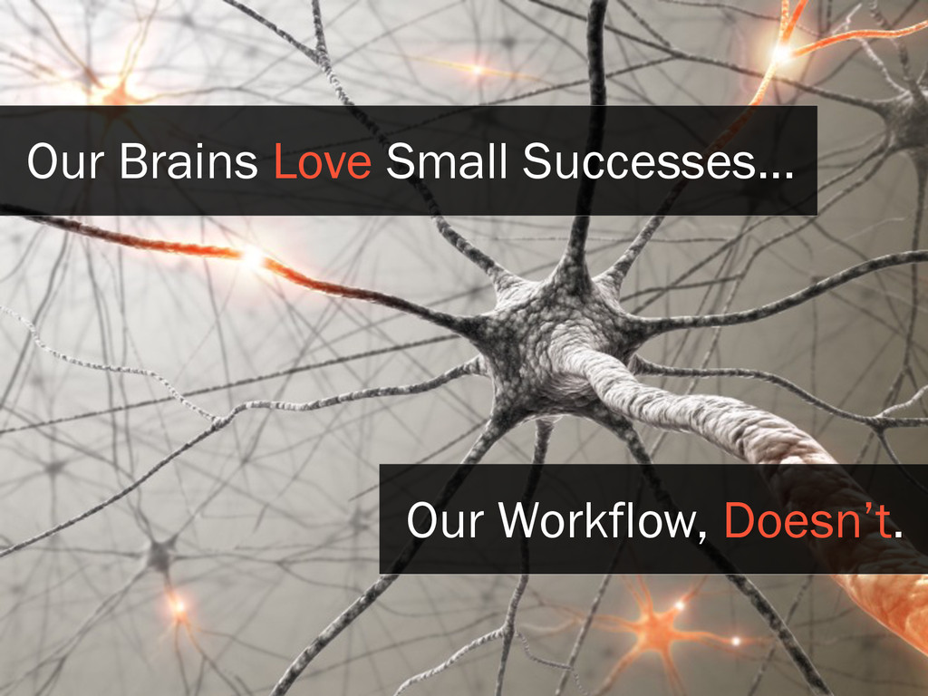 Our Brains Love Small Successes... Our Workflow...