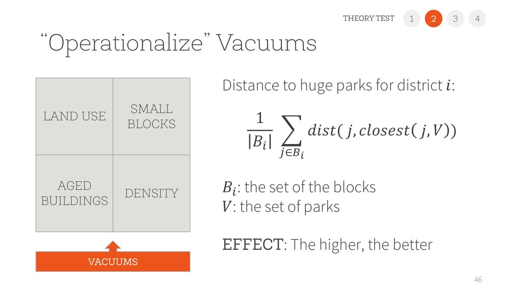 """""""Operationalize"""" Vacuums Distance to huge parks..."""